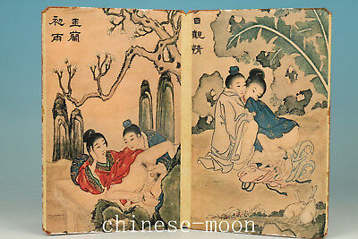 Japan Paper Printing Painting Edo period King New Married Life Statue Ornament