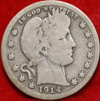 1914-S San Francisco Mint Silver Barber Quarter Free Shipping