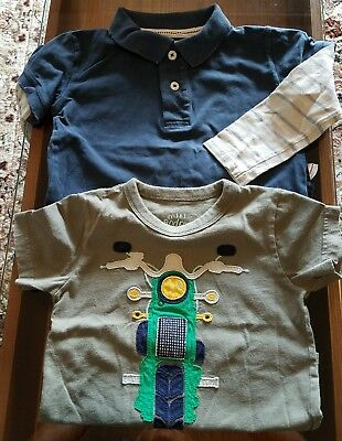 Mini Boden Boys Shirt Lot 2-3 Graphic t and long sleeve polo