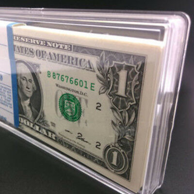 Acrylic Currency Notes Holders Display Box Clear Case Bundle Paper Money Sanwood