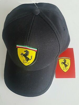 Ferrari cap hat black NEW with tags