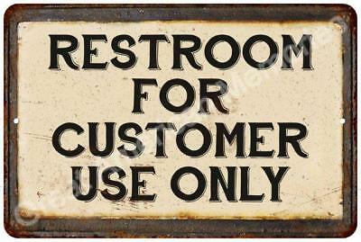 Restoom for Customer Use Vintage Look Reproduction 8x12 Metal Sign 8124176