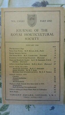 journal  royal horticultural society rhs garden magazine 1960 January