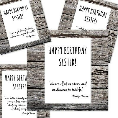 Inspirational Funny Birthday Card Happy Birthday Sister Marilyn