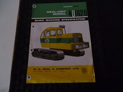 Neal Unit Model Nu 1620 Specification 2618 Leaflet/pamphlet *as Pictures*