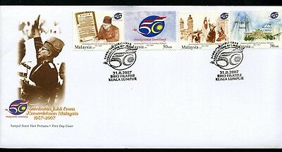Malaysia 2007 Independence 50th - Unaddressed FDC