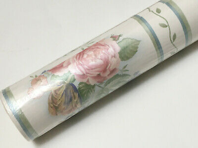 SUNWORTHY KC063663 Microban Floral Roses Green White Solid Vinyl Wallpaper Roll
