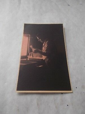 Old  Postcard - A Man Developing A Photo In A Dark Room.  Unusual Subject
