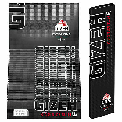 GIZEH Black King Size Slim 25er Box / 34 Blatt Zigarettenpapier Papers Blättchen