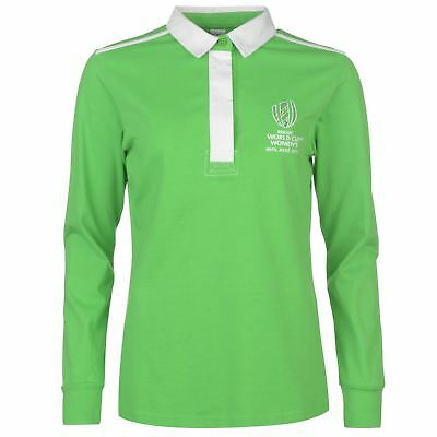 WRWC Womens Rugby World Cup Ireland Classic Shirt Polo Top Long Sleeve Cotton