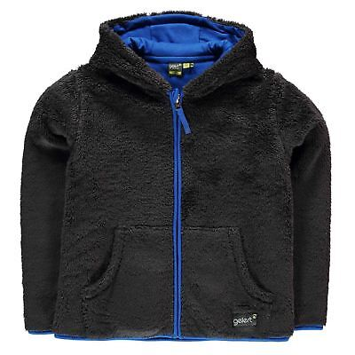 Gelert Kids Yukon Hooded Fleece Unisex Junior Full Zip Top Sweatshirt Jumper