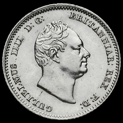 1836 William IV Milled Silver Fourpence / Groat, EF