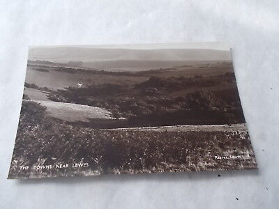 Vintage Sussex Postcard The Downs Near Lewes