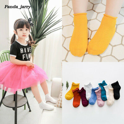 Cute Baby Girls Boys Anti-slip Socks Crimping Mesh Toddler Socks 3 Pairs 1-10Y