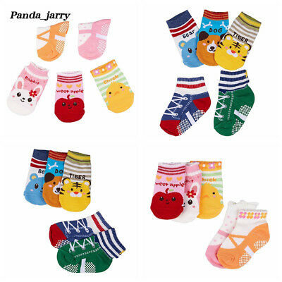 Lovely Cartoon Fruit Print Ankle Socks Baby Boys Girls Soft Anti-slip Socks