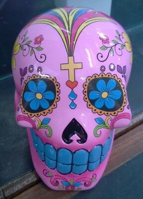 Candy Skull Day of the Dead Mexican Money Bank Pink Colour New