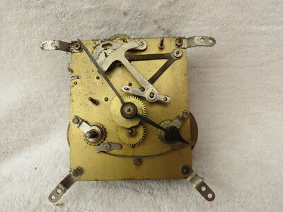 Vintage English Striking Clock Movement And Hands