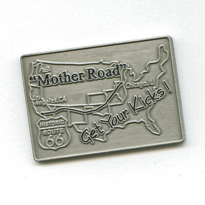 Historic Route 66 America's Mainstreet Mother Road USA Badge Pin Anstecker 0570