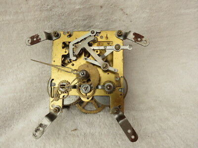 Vintage Smiths Striking Clock Movement, Hands, And Pendulum