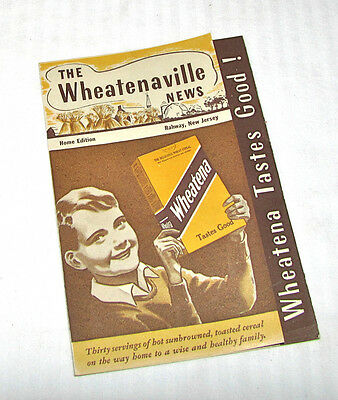 The Wheatenaville News - 1939 Wheatena Cereal Promotional Pamphlet - Ultra Cute!