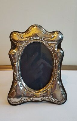 A Decrative Solid Silver Picture / Photo Frame  20cm by 15cm London 1989