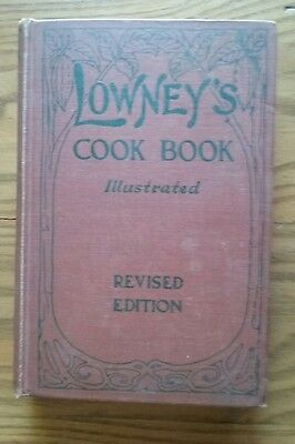 1912 Lowney's Cook Book ~ Revised Ed ~Illustrated In Color ~Maria Willett Howard