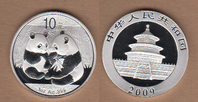 2009 China One Ounce SILVER Panda - Genuine Coin