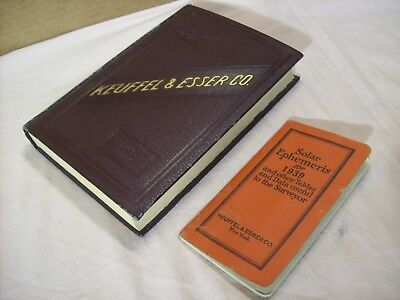 1927~KEUFFEL & ESSER~SURVEYING~ENGINEERING~SALES BOOK~w/SOLAR EPHEMERIS MANUAL