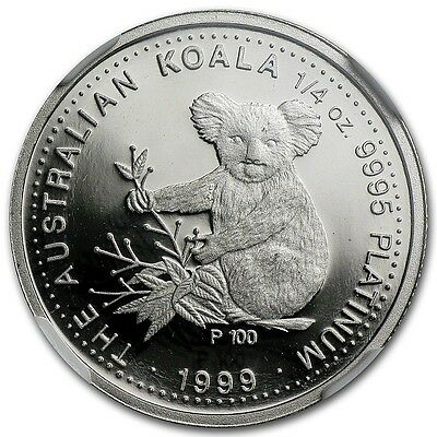 Rare ~ 1999 P ~ $25 Platinum Proof ~ Koala Bear ~ 1/4~Oz ~ Ngc Pf~69 Uc ~$888.88