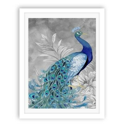 Modern Abstract Peacock Art Canvas Prints Home Decor Wall Picture Oil Painting
