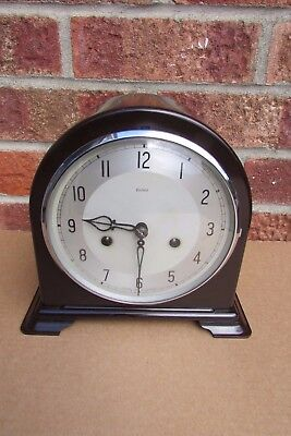 Smiths Enfield Bakelite 8 day Striking Mantle Clock May 1950.