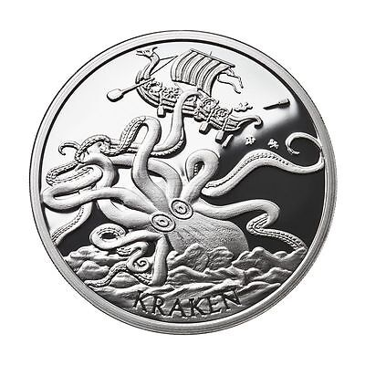 2016 ~ 1~Oz Pure .999 Silver Round ~ The Kraken ~ Proof ~Anonymous Mint~ $64.88