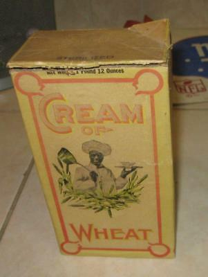 Early Vintage Cream Of Wheat Original Box Chef Rastus On The Cover Clean
