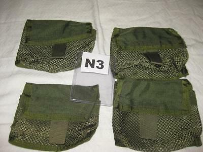 """MEDIC MEDICAL REMOVABLE MESH POUCH 5"""" x 3 1/2"""" (4) OD GREEN N3"""