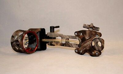 "Used Extreme EXR-750 Dovetail Bow Sight W/4 .019"" Tube Pins & Light, Lost Camo"