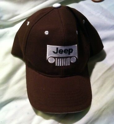 JEEP hat cap BROWN/WHITE unused? car lights grill RARE!?