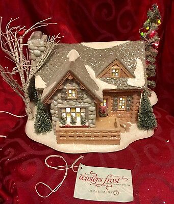 DEPT Department 56 WINTERS FROST Snow Village FROSTY RETREAT Very Rare MIB 2010
