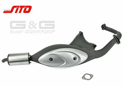 Sito plus Sports Exhaust ABE for Gilera Runner Stalker Piaggio NRG Zip 50 2T LC