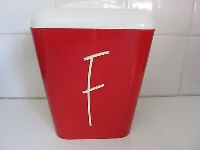 Vintage Retro Red Gay Ware Kitchen Canister  Flour