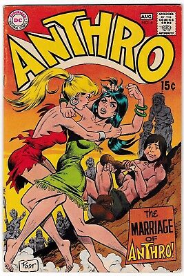 ANTHRO #6 (VF+) Last Issue! 1969 Howie Post Art & Story! DC Wally Wood Inks!