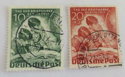 Germany 1951 West Berlin Stamp Day set used