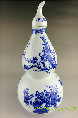 CHINESE Jing dezhen Painted porcelain  Blue and white wine bottle pot  gourd
