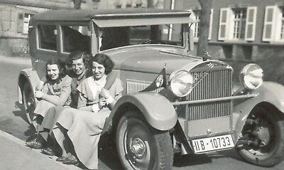 "Foto alt RÖHR""8-R""AUTO 1928""CABRIO-GIRLs""junior maybach benz wanderer bmw audi"