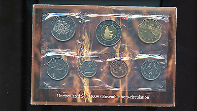 Canada Unc 2004 P pl set of 7 coins Envelope and COA as issued BL1288
