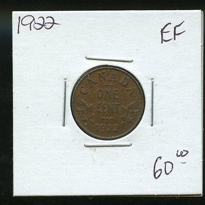 1922 Key Date Canada Small Cent EF A913