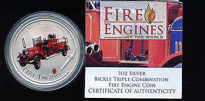 2005 Fire Engines of the World Bickle Triple silver coin 1oz B494