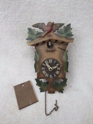 Small Vintage Forestall Black Forest Cuckoo Clock For Spares Or Repair