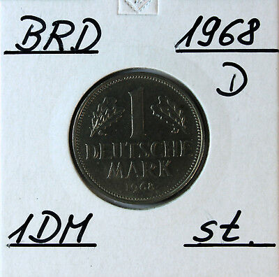 AGN - BRD 1 D Mark 1968 D - Erhaltung - Condition !