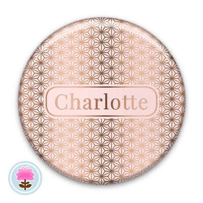 Personalised STAR Rose Gold/Silver/Gold Foil POCKET MIRROR 58mm Wedding Favour