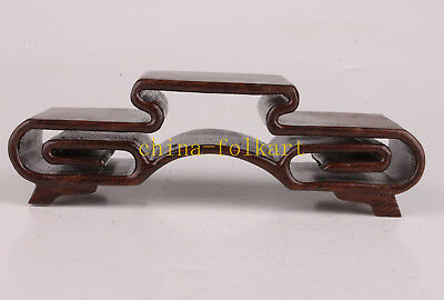 Wood Snuff Bottle Base Stand Collectable Pedestal Foundation Decoration